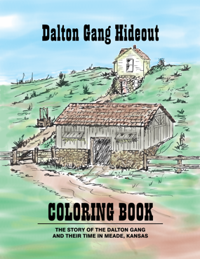 Dalton Gang Hideout Coloring Book